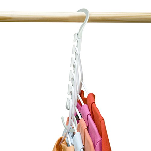 Wonder Hanger Max, New & Improved, Pack of 6-3x The Closet Space for Easy, Effortless, Wrinkle-Free Clothes, White