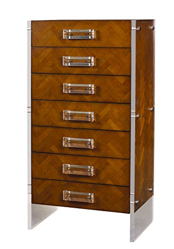 Heritage Cherry Vanity (French Heritage Reese Chevron Tall Chest, Antique Cherry Finish)