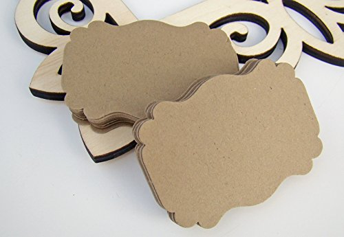 Rustic Kraft Scalloped Edge Favor Tags Wedding Thank You Natural Gift Party Tags