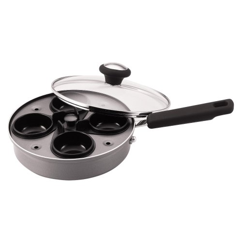 Farberware Nonstick Aluminum Egg Poacher with Glass Lid