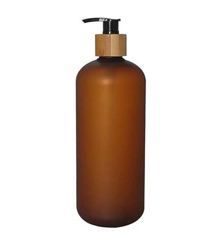 Upstore - Botella de plástico antigoteo con Bomba de bambú, dispensador de Jabón Líquido para