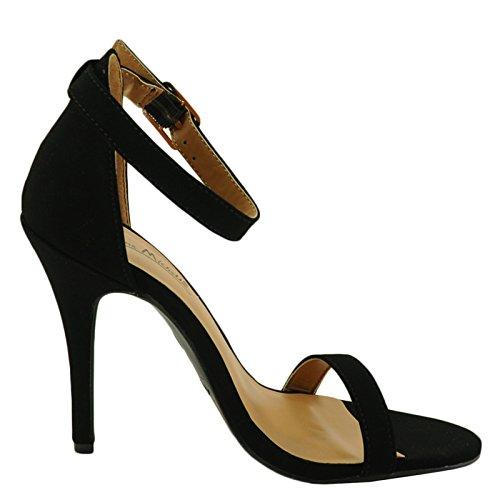 Sandali Con Cinturino Alla Caviglia Anne Michelle Girltalk 11m Donna Nero