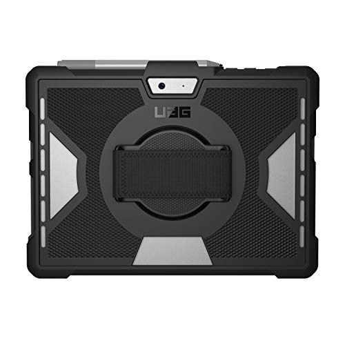 URBAN ARMOR GEAR UAG Microsoft Surface Go 2 / Surface Go with Hand Strap Outback Feather-Light Rugged [Black] Military Drop Tested Case