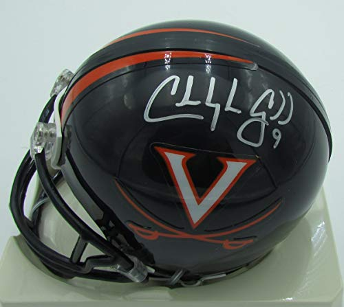 (Chris Gould Virginia Cavaliers Signed/Autographed Mini Helmet 141727)