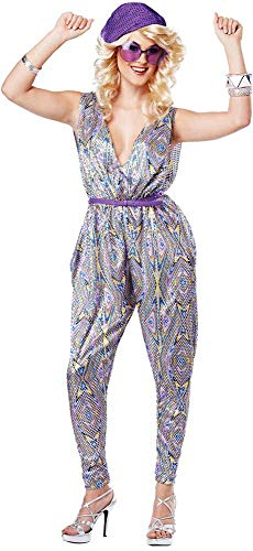 ESSA OAT clothes series Retro 70'S Disco Saturday Nights Boogie Fever Halloween Costume Adult Women ()