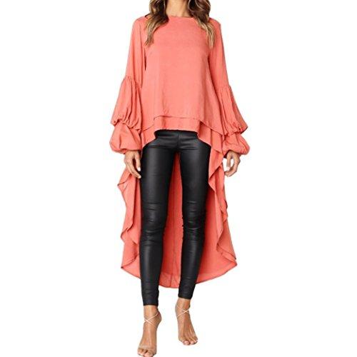 NEARTIME Promotion❤️Women Top Dress, 2018 New Fashion Women Irregular Ruffles Shirt Lantern Sleeve Sweatshirt Pullovers Blouse