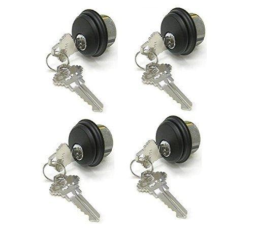 Pacific Doorware Mortise Lock Cylinders 4-Pack (Same keys), Adams Rite Cam for Storefront Doors in Duronotic