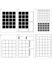 Speedy Spreads Journal Stencils (Monthly Layouts #1) - x6 Stencils for A5 Bullet Dot Grid Journal Notebook, Save Time on Full-Page Layouts, DIY Planner Templates for Productivity by Sunny Streak
