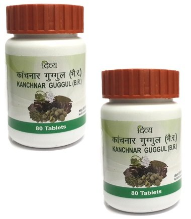Divya Kanchanar Guggulu 80 Tablets x 2 Bottles