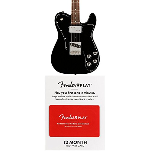 Fender Classic Series 72 Telecaster Custom Electric Guitar - Pau Ferro Fingerboard - Black With 12 Months Guitar Lesson Gift Card