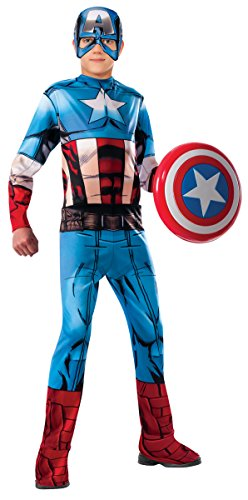 [Marvel Universe Avengers Assemble Captain America Costume, Small] (Captain America Classic Costumes)
