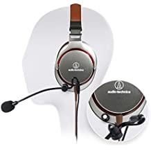 Audio-Technica ATH-MSR7GM GunMetal SonicPro High-Resolution Audio Headphone -INCLUDES- Antlion Audio ModMic Attachable Boom Mic - Noise Cancelling w/ Mute Switch AND Blucoil Y Splitter - GAMING BUNDLE