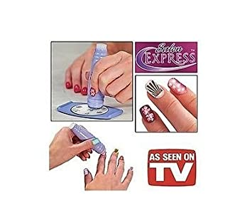 Amazon Salon Express Nail Art Stamping Kit New As Seen On Tv