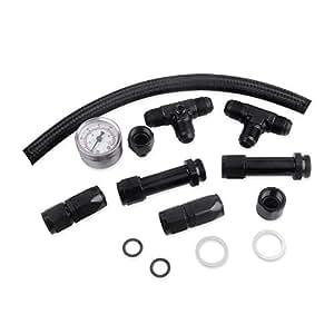 Docooler Dual Feed Carburetor Fuel Line Kit 8AN O-Ring for Holly 4150 Carburetor