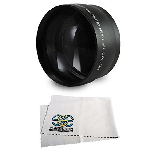 Extra large Wide Angle Lens With Macro lens For The Canon VIXIA FS200, HF 10, HF 100 , HF 11, HF 20, HF 200, HF 21, HF M30, HF M300, HF M31, HF S10, HF S100, HF S11, HF S20, HF S200, HF S21, HG 20, HG 21