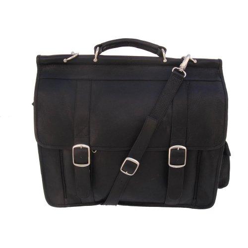 Piel Leather European Briefcase, Black, One Size by Piel Leather
