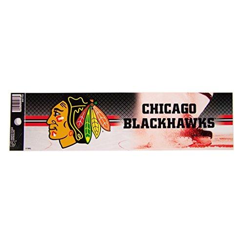 Rico NHL Blackhawks Chicago Bumper Sticker Sports Fan Bumper Stickers, Multicolor, One Size