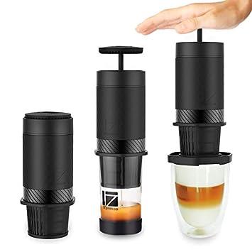 NMTGBDF cafetera Cápsula de la máquina de café portátil mano prensado cafetera home multifuncional al aire libre cápsula, Edición Estándar: Amazon.es: Hogar