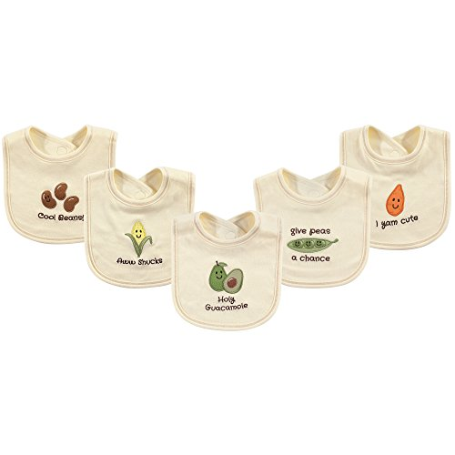 Touched by Nature Organic Cotton Bibs, 5 Pack, Avocado