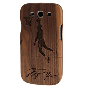 DIYLooks Detachable Wood Hard Case Cover for Samsung Galaxy SIII / i9300 (Dunk Pattern)