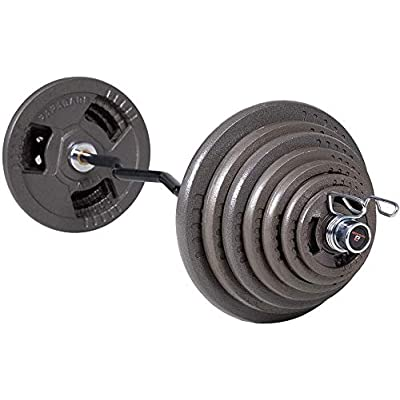 Balelinko 2-Inch Olympic Grip Plate Iron Weight Plate for Strength Training Weightlifting and Crossfit
