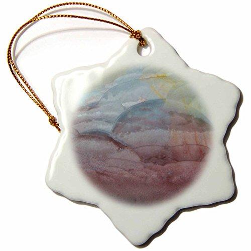 3dRose Danita Delimont - Stone - Polychrome Jasper - 3 inch Snowflake Porcelain Ornament ()