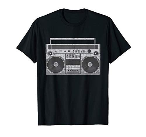 Boom Box CD Player Cassette Audio AM FM Radio T-Shirt Gift (Small Boom Box With Cd Player)