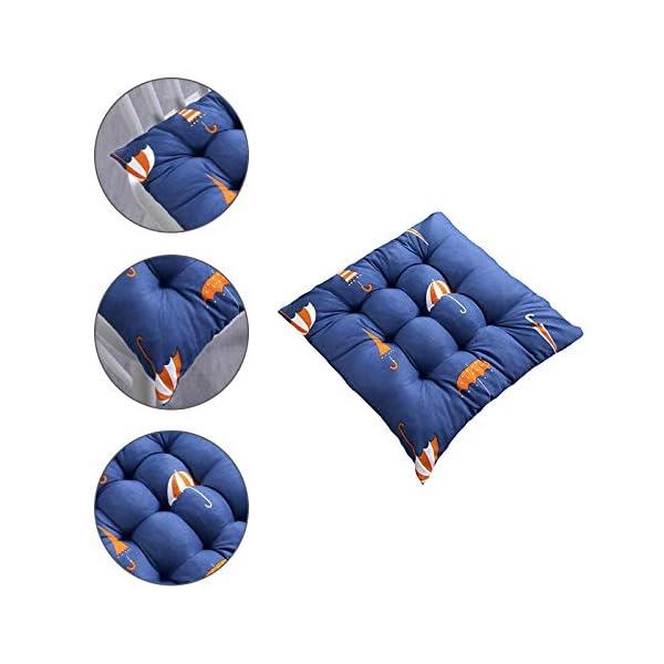 Oyfel. Set di 4 cuscini per sedia, 40 x 40 x 9 cm, per interni ed esterni, 100% cotone, diversi colori, imbottitura… 3 spesavip