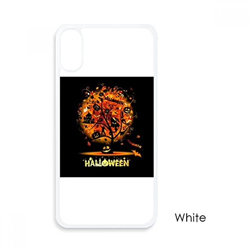 Halloween Cartoon Tree Pattern for iPhone X Cases White Phonecase Apple Cover Case Gift -
