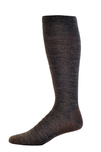 point6 Men's Ski Ultralight Over the Calf Socks (Gray, X-Large) (Ski Point6)
