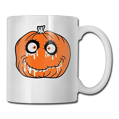 DFNRF Halloween Pumpkin 11oz Ceramic Coffee Mug Cute Birthday Christmas and Inspirational Gift for $<!--$13.98-->