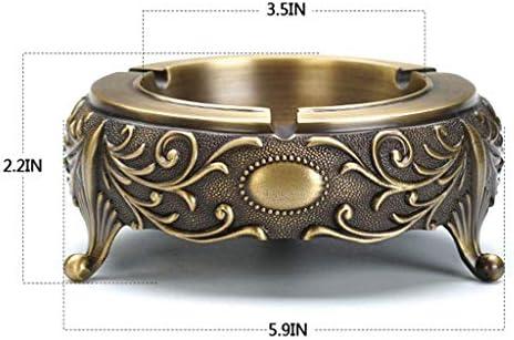 Luckya 灰皿金属3D灰皿リビングルームクラフト用金属製