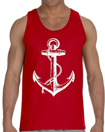 Vizor Anchor Tank Top for Men Marine Tank US Navy Muscle Shirt Sailor Tank Top Red M]()
