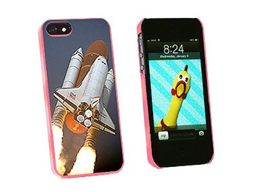 Graphics and More Space Shuttle Atlantis Launch Snap-On Hard Protective Case for iPhone 5/5s - Non-Retail Packaging - Pink