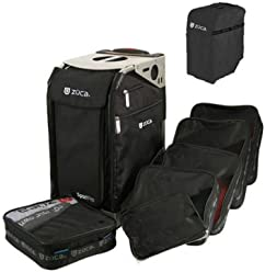 Zuca Pro Complete Set- Black Insert Bag With Black Travel Cover and Pro Sliver Frame