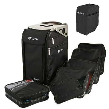 zuca pro complete set black insert bag with black travel cover and pro sliver frame - Zuca Frame