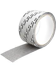 "Window Screen Repair Tape, 2""X79"" Extra Strong Self Adhesive & Waterproof Repair Fiberglass Cloth Mesh (Grey)"