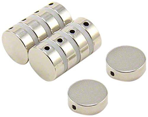 Magnet Expert 15mm dia x 5mm thick N42 Neodymium Magnet w/ 2mm hole through diameter - 4.1kg Pull ( Pack of 4 ) Magnet Expert® F215DH-4