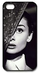 LZHCASE Personalized Protective Case for iPhone 5 - Audrey Hepburn