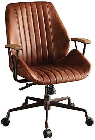 Amazon Com Acme Hamilton Top Grain Leather Office Chair Cocoa Leather Furniture Decor