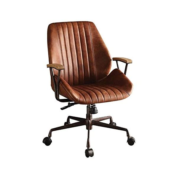 Acme Furniture Acme 92413 Hamilton Top Grain Leather Office Chair in Cocoa Leather