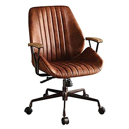 separation shoes f03d5 c9eaf Acme Hamilton Top Grain Leather Office Chair, Cocoa Leather