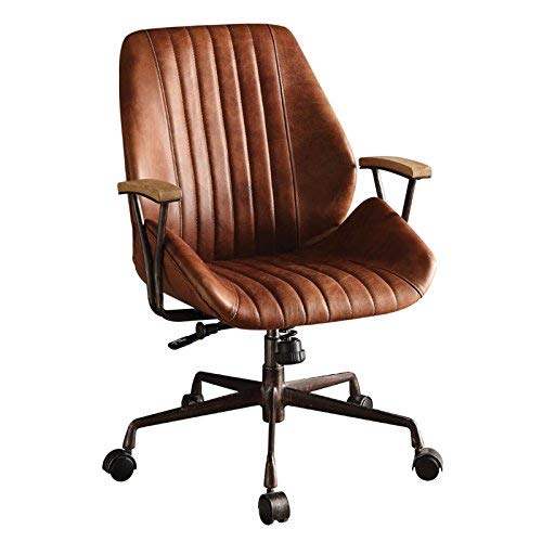 (Acme Hamilton Top Grain Leather Office Chair, Cocoa)