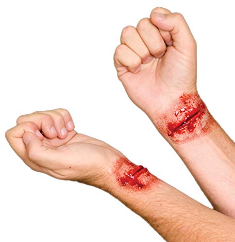 Woochie EZ FX Kit - Professional Quality Halloween Costume Makeup - Slashed Wrists -