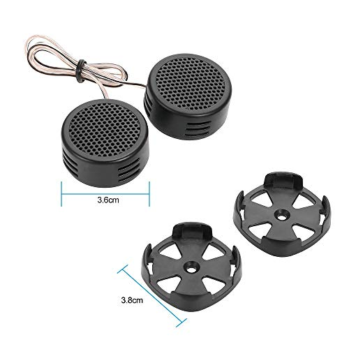 Gadget Wagon 120W Dome Tweeter for car Audio System (Pair)