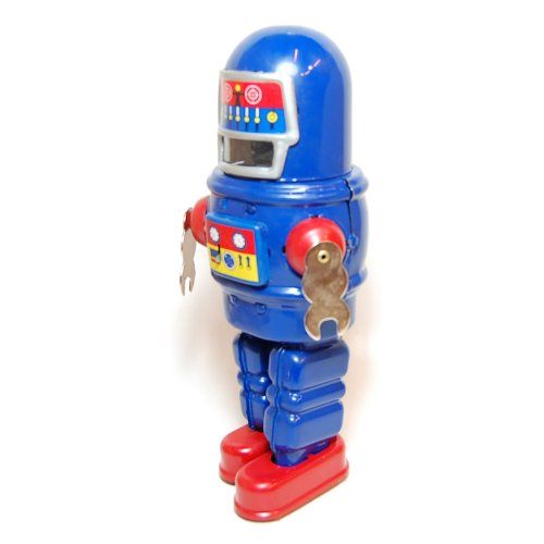 Mechanical Sparkling Roby Robot, Metal Robot Winds Up, Tin Toy Collection, 8.8'' Tall