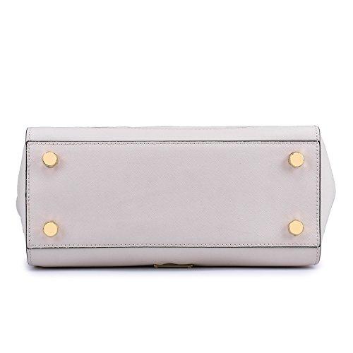 White Shoulder Bag Single Leather Fashion Handbags w8fWqBXAUA