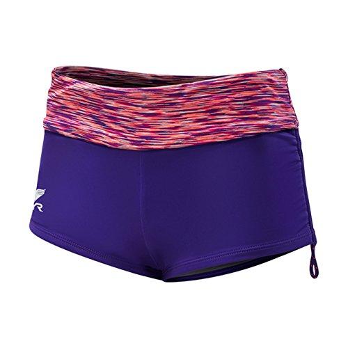 TYR Sport Women's Sonoma Active Mini Boy Shorts, Purple, Medium