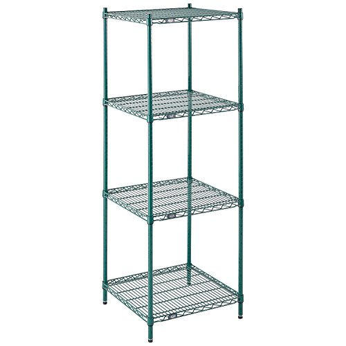 Nexel Wire Shelving, Green Epoxy, 24