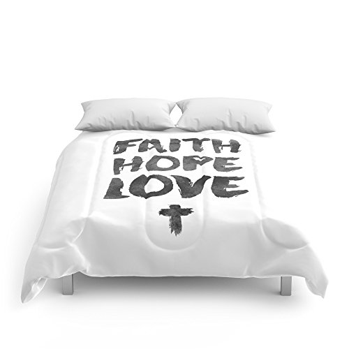 Society6 Faith Hope Love Comforters Queen: 88'' x 88'' by Society6